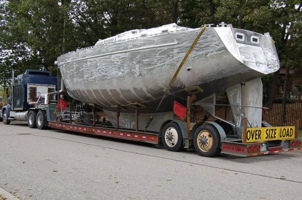 自作した船の画像