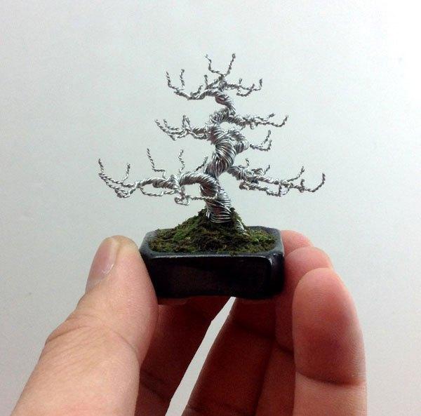 ワイヤー彫刻で作るミニチュア盆栽がすごい! (3)