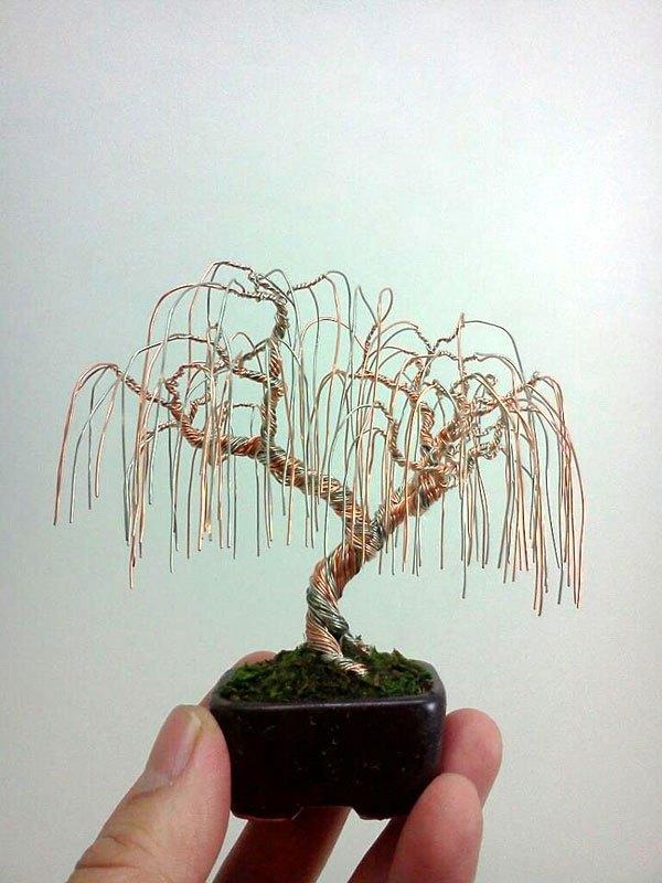 ワイヤー彫刻で作るミニチュア盆栽がすごい! (4)