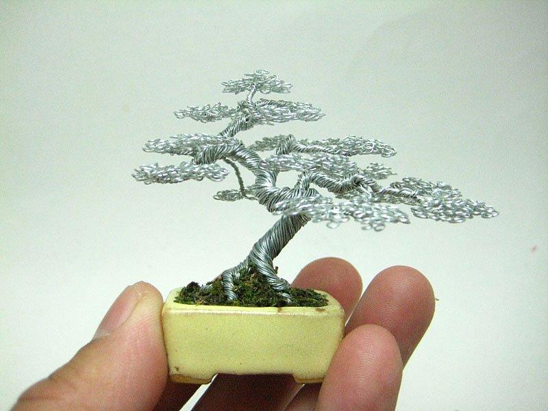 ワイヤー彫刻で作るミニチュア盆栽がすごい! (5)