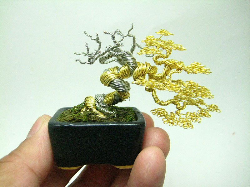 ワイヤー彫刻で作るミニチュア盆栽がすごい!(1)