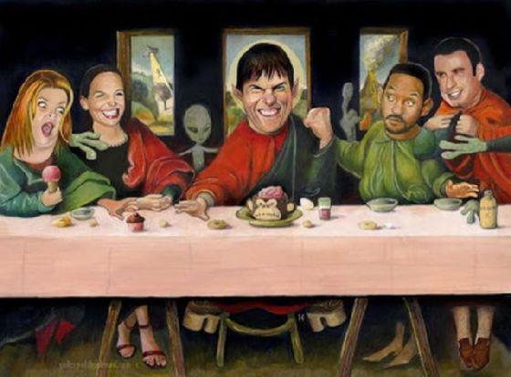 最後の晩餐 レオナルドのパロディー (11)