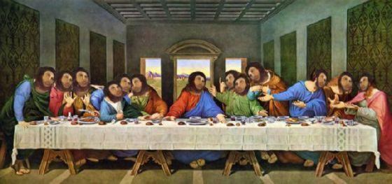 最後の晩餐 レオナルドのパロディー (15)