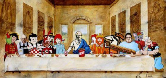最後の晩餐 レオナルドのパロディー (16)