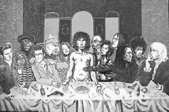最後の晩餐 レオナルドのパロディー (24)