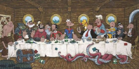 最後の晩餐 レオナルドのパロディー (26)