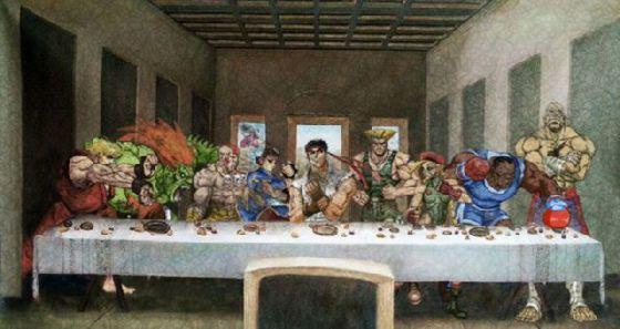 最後の晩餐 レオナルドのパロディー (3)