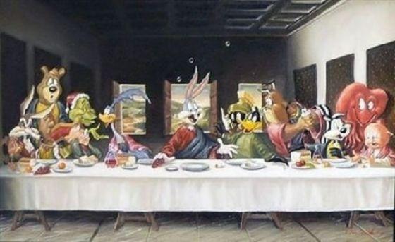 最後の晩餐 レオナルドのパロディー (30)