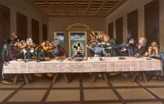 最後の晩餐 レオナルドのパロディー (34)
