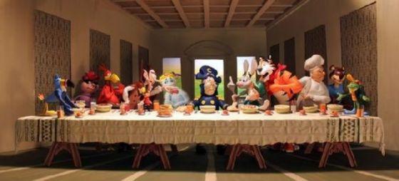 最後の晩餐 レオナルドのパロディー (36)