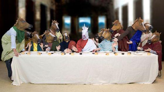 最後の晩餐 レオナルドのパロディー (47)