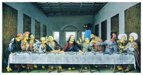 最後の晩餐 レオナルドのパロディー (7)