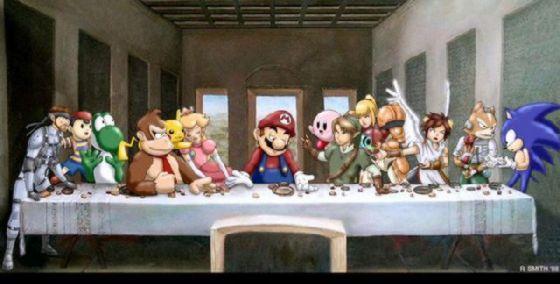 最後の晩餐 レオナルドのパロディー