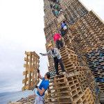 世界最大のかがり火(高さ40m)