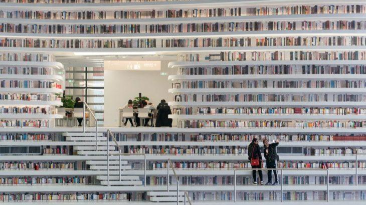 美しすぎる近未来的な中国の図書館「天津濱海図書館」8万イイネがついた!